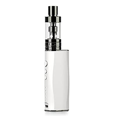 P1 VAPTIO-P1 Kit E Cigarette Box Mod Vaporizer 50W with Adjustable Airflow tank, Variable Voltage Electronic Cigarette Vape Pen, 0.2ohm Sub Ohm Powerful Vapour Cigarette, White (No Nicotine) from Idovapo