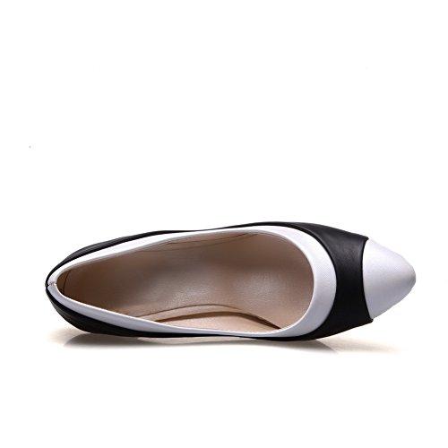 Punta Redondeada Balamasa, Para Mujer, Colores Surtidos, En Piel, Para Calzado Zapatillas Imitadas Negra