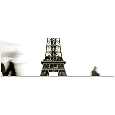 IMMAGINE panoramica su tela e barella 150 x 50 cm Torre Eiffel sagoma umana - Torre Panoramica