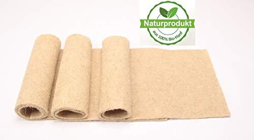 Nagerteppich aus 100% Bio-Hanf, 120 x 50cm, 5mm dick, 2er Pack (8,45 Euro/Stück), Nagermatte, Hanfmatte für Nagetiere -
