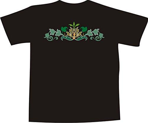 T-Shirt F1057 Schönes T-Shirt mit farbigem Brustaufdruck - schön tribal Blatt Mehrfarbig