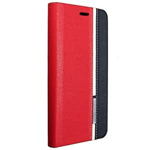 Mohoo Flip Synthetic Leather Wallet Card Stand Cover Case for Lenovo A5000-Red