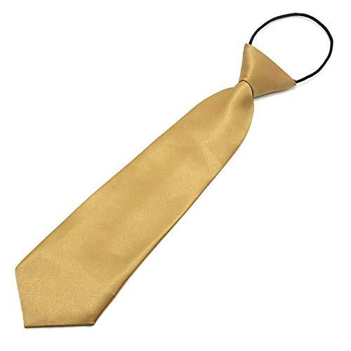 KEKDORY Schule Jungen Kinder Kinder Baby Hochzeit einfarbig elastische Krawatte Junge Krawatte Baby Hochzeit Krawatte Krawatte Fleck - Champagner