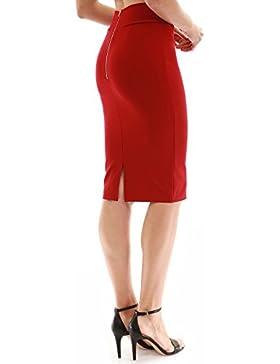 PattyBoutik Mujer falda lápiz de abertura trasera