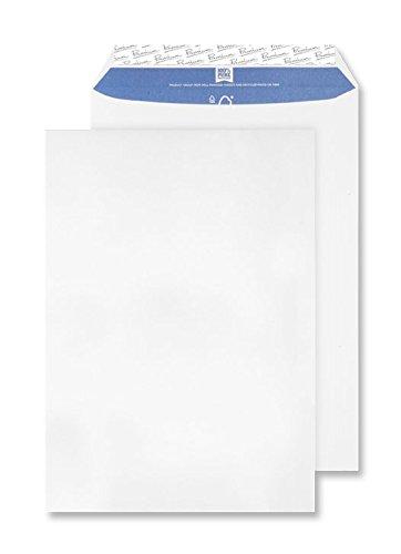 Premium Pure - Paquete de sobres con cierre autoadhesivo (C4, 229 x 324 mm, 20 unidades), color blanco