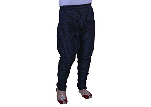 Larwa Men Dupion Pyjama (Larwa01_Black_Black_Free Size)