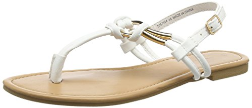 New Look Heated, Sandales Bout Ouvert Femme Blanc (White)