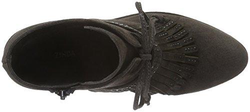Zinda 2470, Bottes courtes avec doublure chaude femme Gris - Grau (Carbón)
