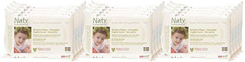 Naty by Nature Babycare Öko Feuchttücher Unparfümiert, 12er Pack (12 x 56 Stück) - 6