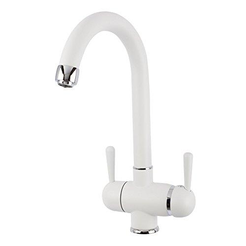 Grifo de 3Vías gm C-Caño Blanco para AMWAY eSpring filtro de agua Adecuado. Grifo, Grifo de cocina, mezclador, tres vías grifo