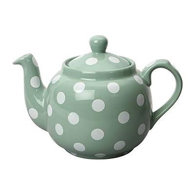 London Pottery Ferme traditionnelle 4de tasse filtre en céramique Théière Vert à pois blancs