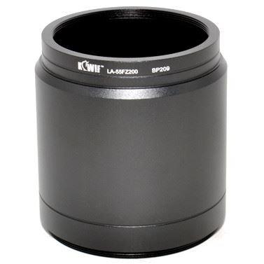 Kiwifotos LA-55FZ200 Filteradapter für Panasonic Lumix DMC-FZ100/FZ200/FZ300/FZ330 / Leica V-LUX 4 (kompatibel mit DMW-LA7E)