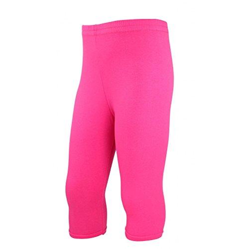 TupTam Mädchen Leggings 3/4 Capri Baumwolle Blickdicht, Farbe: Pink, Größe: 116