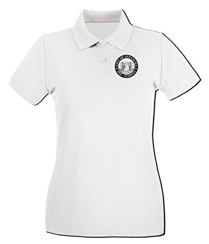 T-Shirtshock - Polo pour femme TM0031 City of Aventura Florida1 citta Blanc