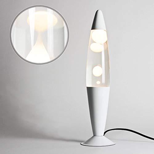 Lámpara de lava blanco transparente moderna Luminaria TIMMY Salón Dormitorio