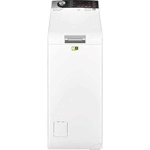 AEG L8TE84565 Waschmaschine Toplader 91 KWh Jahr 6 Kg Weiss Sparsamer Waschautomat Mit Mengenautomatik Dampfprogramm Leiser Und Robuster Oko