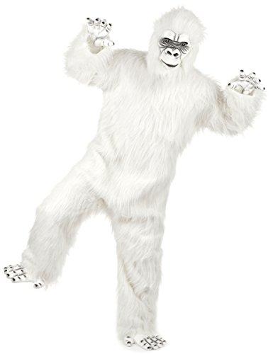 Generique - Deluxe Yeti Kostüm für Erwachsene weiß Einheitsgröße