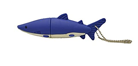 FEBNISCTE® Mignon Requin Bleu 16GB Clé USB2.0 Pen Drive