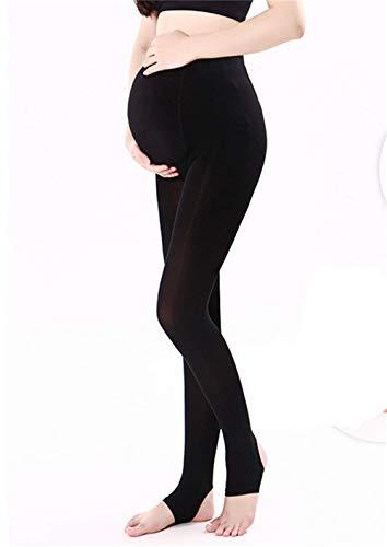 ZUMIY Umstandsmode Strumpfhose, Strumpfhosen für die Schwangerschaft, Umstands Strumpfhose Schwarze- 320D (Verstellbares Taillenband) (Free, Schwarz) -