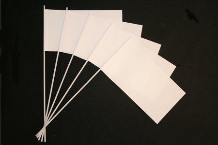 Papierfähnchen: Weiß 50er Packung