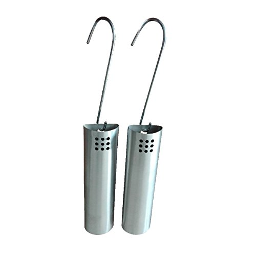 KaminoFlam Luftbefeuchter für die Heizung aus Edelstahl im 2er Set - Raumbefeuchter zum Einhängen in den Heizkörper - Wasserbehälter als Verdunster