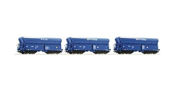 3 VI Roco 76078 PKP Fals Side Discharge Hopper Wagon Set