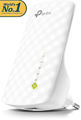 TP-Link RE200 Ripetitore WiFi, Range Extender Universale, Wi-Fi Dual Band AC750, 750 Mbps, 1 10/100M LAN, 3 Antenne Interne, Access Point Mode, LED Segnale Intelligente