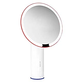 TSHZJ Amiro 8 inch Smart Lighted Vanity Makeup Mirror with Brightness Control,Rechargeable