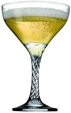 Pasabahce Twist Champagne Glass Set, 280 ml,Set of 6