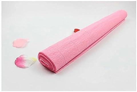 Lugii Cube papier crépon fleuriste Cadeau Craft Magnifique Bouquet Décoration DIY Wrapper Rouleau, rose