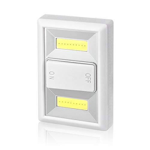 PETUNIA ON/Off Switch Wall Light Battery Operated Small Night Light Cabinet Lamp - White