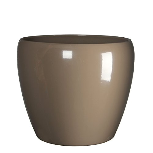 Mica Decorations 145742 Pot Ronde Lidy H22.5d26 Taupe