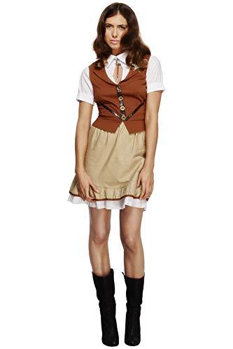 Smiffys 43483M - Fever Sheriff-Kostüm mit Weste Mock Shirt Rock und Hals-Bindung