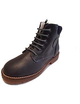 [Patrocinado]Garvalin - Zapatos de Cordones de Piel Lisa para niño Azul Marine
