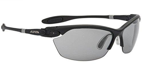 Alpina Sonnenbrille Performance TWIST THREE 2.0 VL black matt, One Size