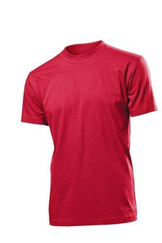 Hanes Herren Uni T-Shirt S rot - Rotes T-shirt Hanes