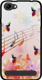 MOBILINNOV Archos 40 Power Notes de Musique Papillon colorés Silikon Hülle Handyhülle Schutzhülle - Zubehor Etui Smartphone Archos 40 Power Accessoires