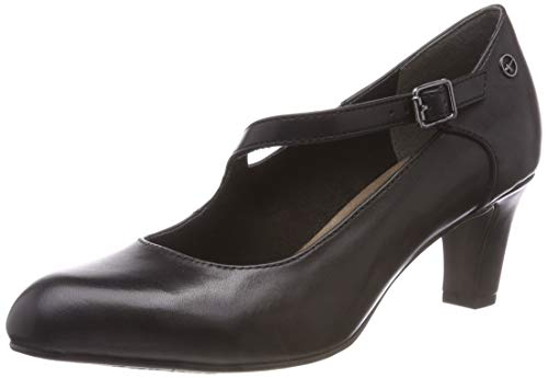 Tamaris Damen 24402-21 Mary Jane Halbschuhe, Schwarz (Black Leather 3), 39 EU