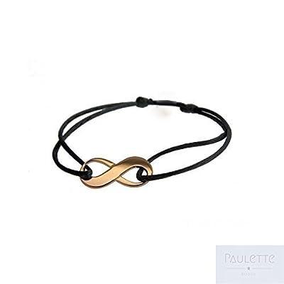 Bracelet petit Infini sur Cordon en Argent 925 Ou Plaqué Or
