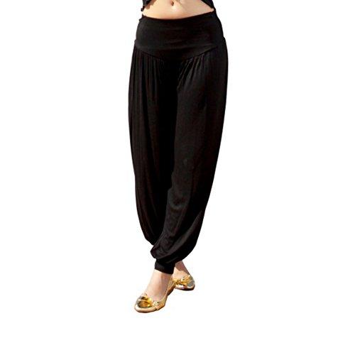 Loveble Damen Kurzarm Shirt aus Baumwolle und Knickerbocker Bloomers Yoga Hosen (T-shirt Bauchtanz)