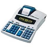 Rexel IB404207 Tischrechner 1491X mit Netzanschluss, 230 x 300 x 92 mm, negative Zahlen in rot, Zweifarbige Anzeige, lichtgrau/blau