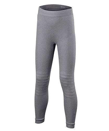 FALKE Kinder Wool-Tech Long Tights Kids Sportunterwäsche, Grey-Heather, 146-152 | 04043874259248