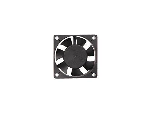 MAA-KU DC Klein Axial Fall Kühlung Fan. Größe: 6,1cm Zoll (6x 6x 2cm), (60x 60x 20), Versorgungsspannung: 12VDC, Badeanzug Material: Kunststoff P.B.T, Farbe: Schwarz.