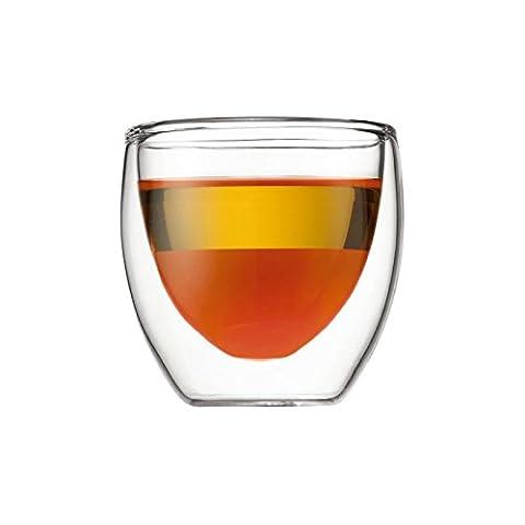 Bodum Pavina 2 Pcs Glass, Double Wall, Extra Small -
