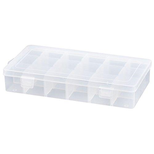 9-fach Schmuck (sourcingmap Schmuck Plastik Rechteck 18 Fach verstellbarer Aufbewahrungsbehälter Halter Box)