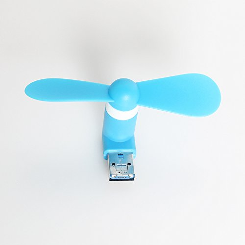 WWIN mini USB ventola portatile per Android Apple iPhone combo cellulare leptop Tablet PC mobile dock fan Blu chiaro