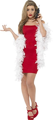 Smiffy's 20527M - Clueless Cher Kostüm mit Kleid Feder-Boa und Telefon-Zusatz (Cher Fancy Dress Kostüme)