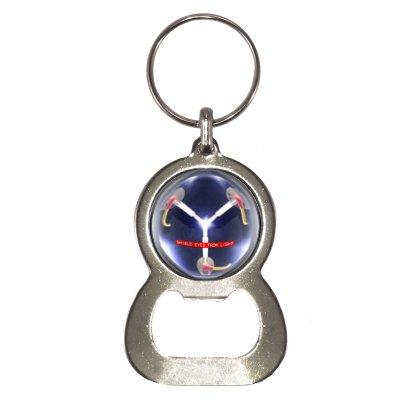 Flaschenöffner Schlüsselanhänger mit Flux Capacitor Design
