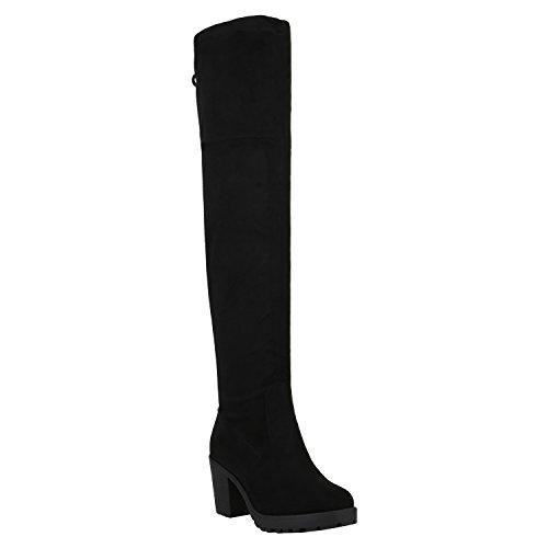 Oberschenkel Hohe Weiße Stiefel - Damen Schuhe Stiefel Overknees Langschaft Boots