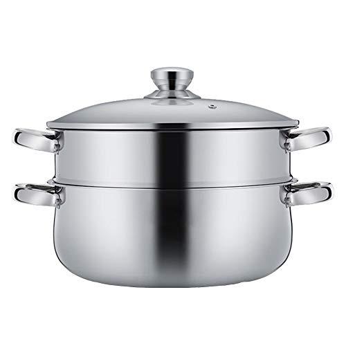 Gardampfkochtopf,ideal für kleine Portionen oder Singlehaushalte,Material: Edelstahl 304 Spezifikation: 30cm, Anwendbarer Ofen: Universal,Dampfer -